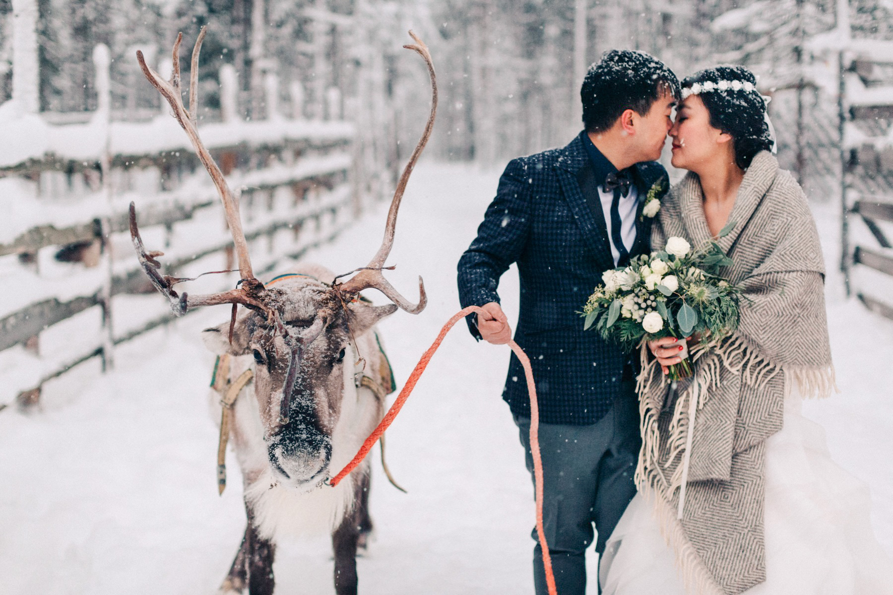 pre wedding photo shoot in Lapland