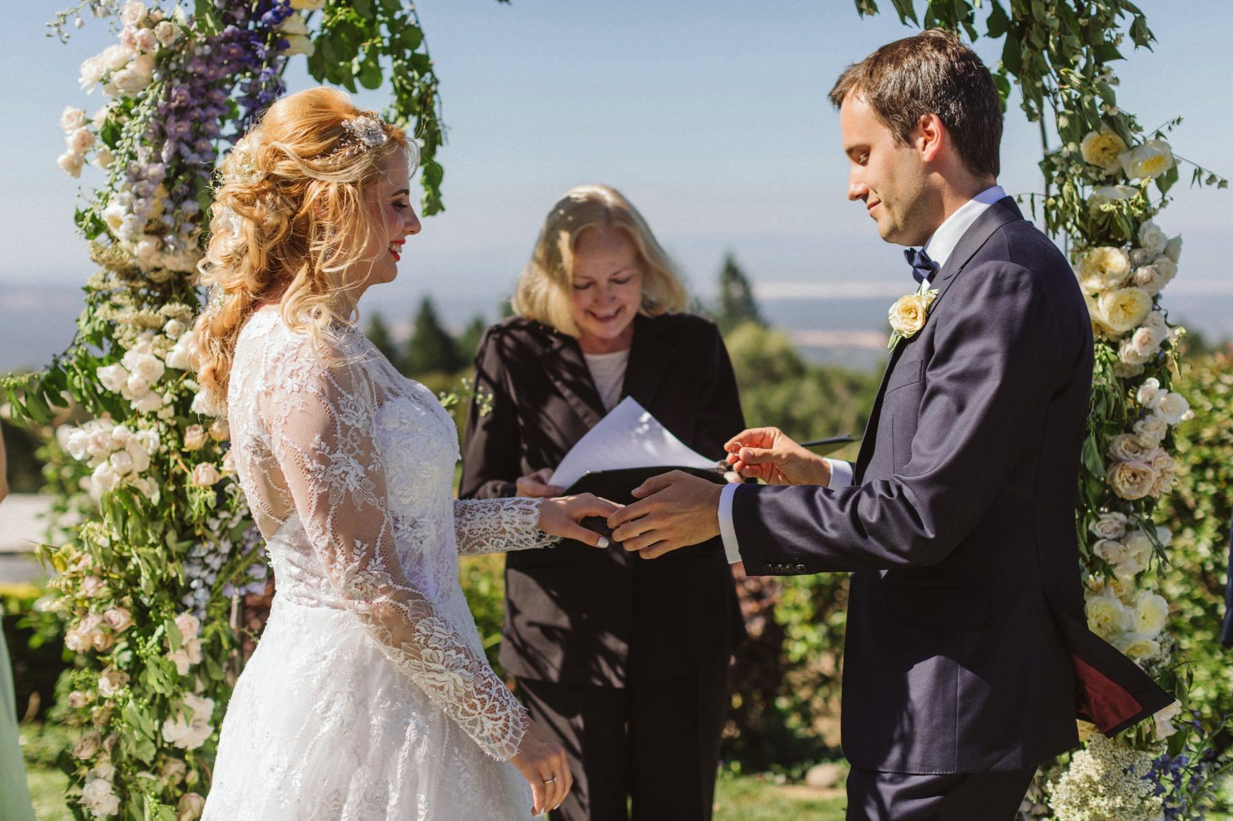 Fogarty winery wedding ceremony