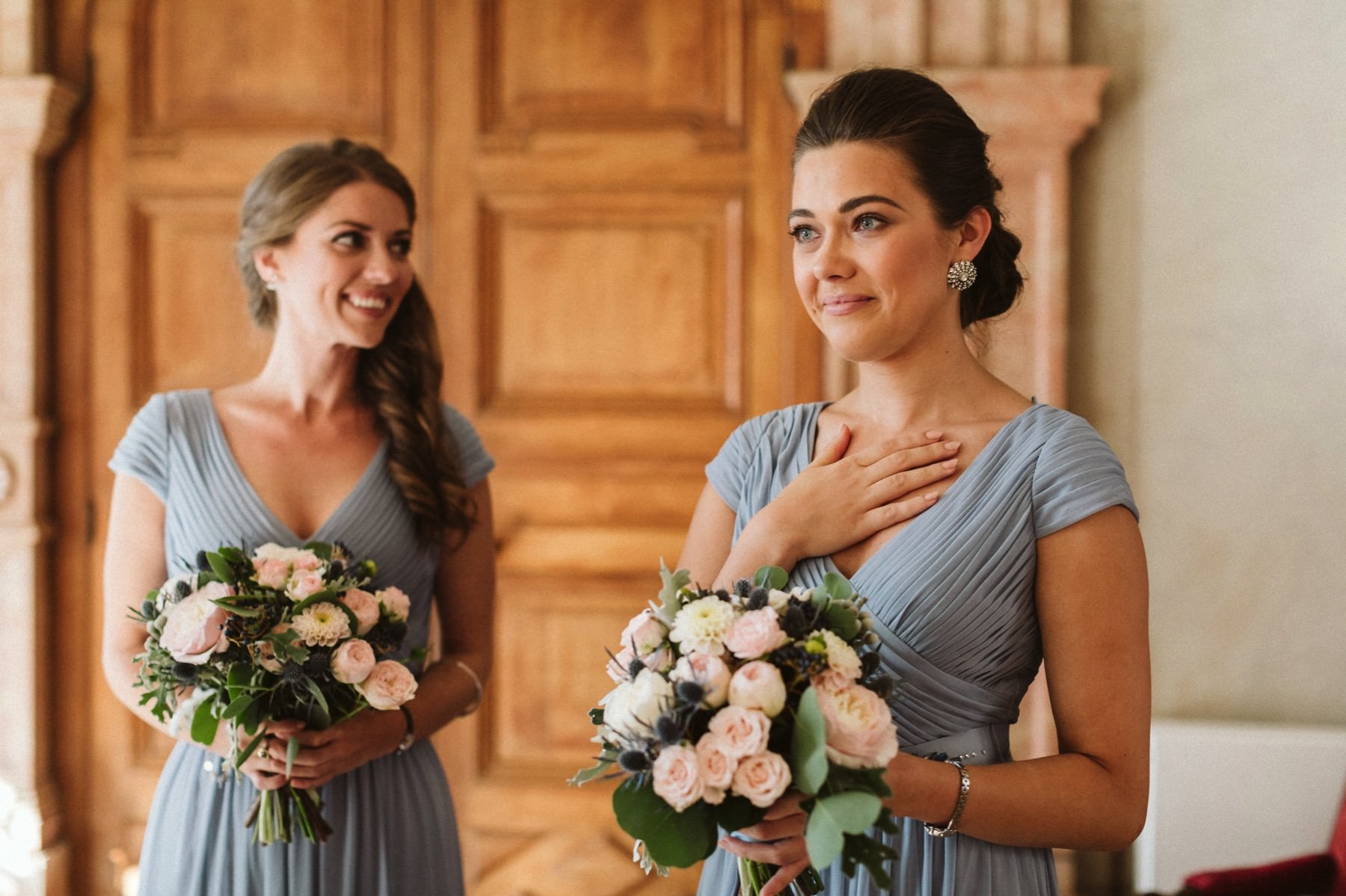emotional bridesmaids in France