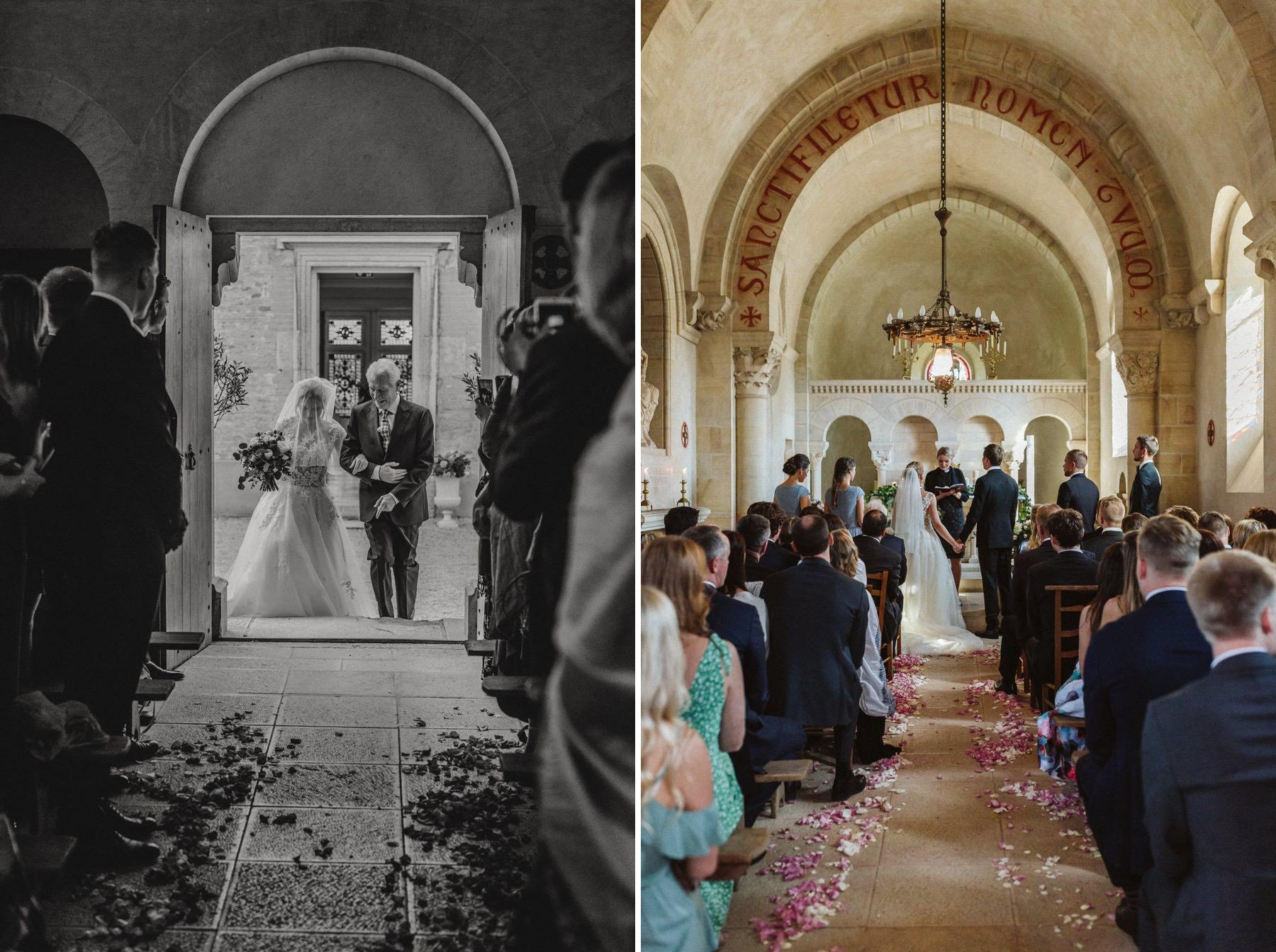 chapel wedding at Chateau de Varennes