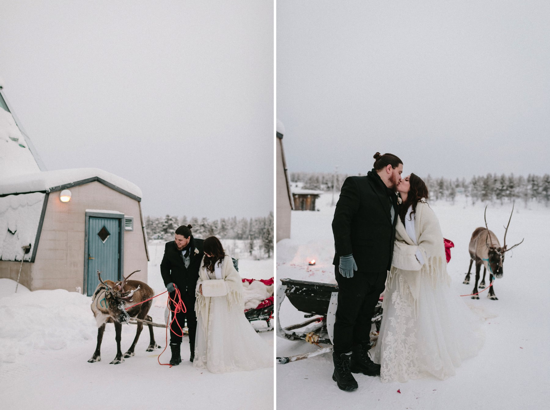 winter wedding in Lapland