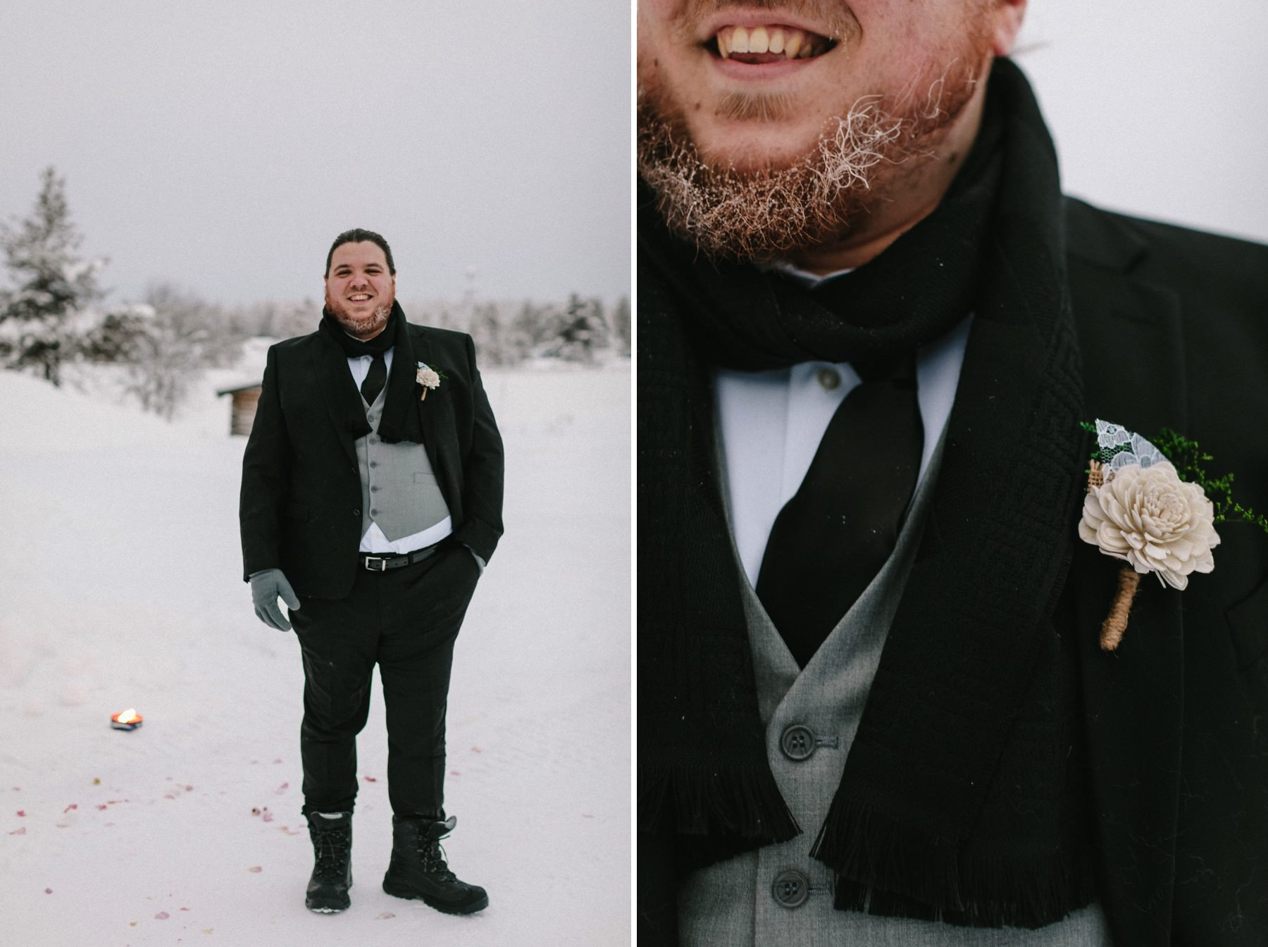 getting married in Lapland in the winter