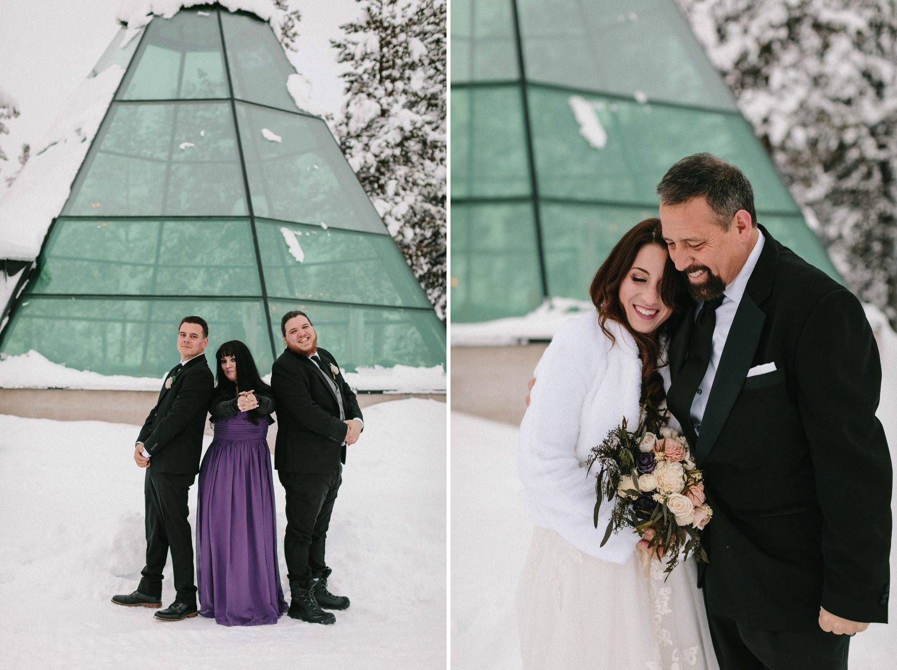 Kakslauttanen glass tepee wedding