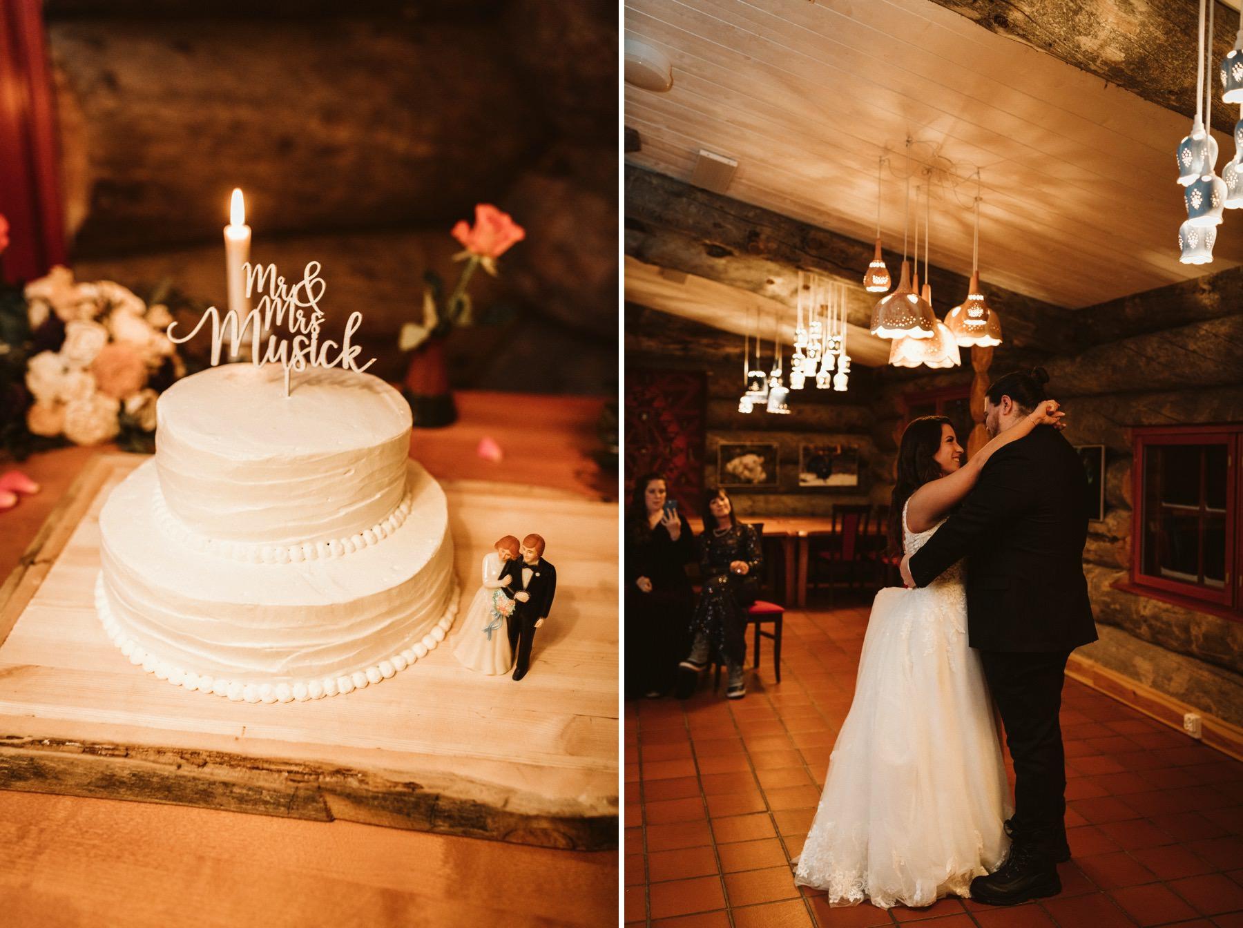 Kakslauttanen wedding cake