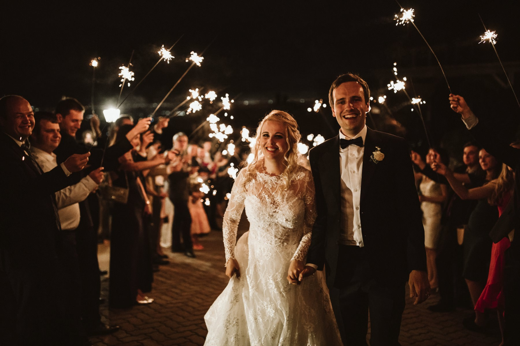 sparkler exit california wedding