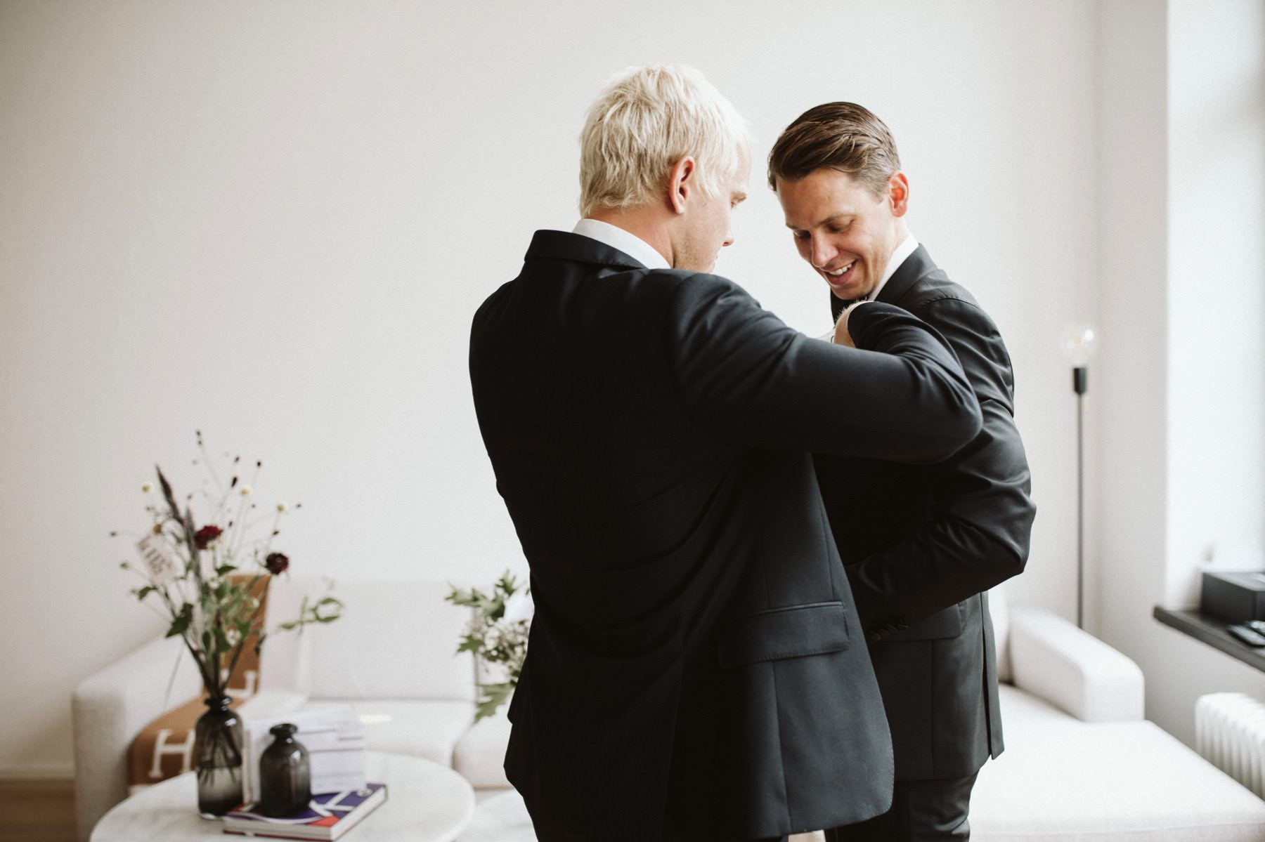 groom getting ready Sweden