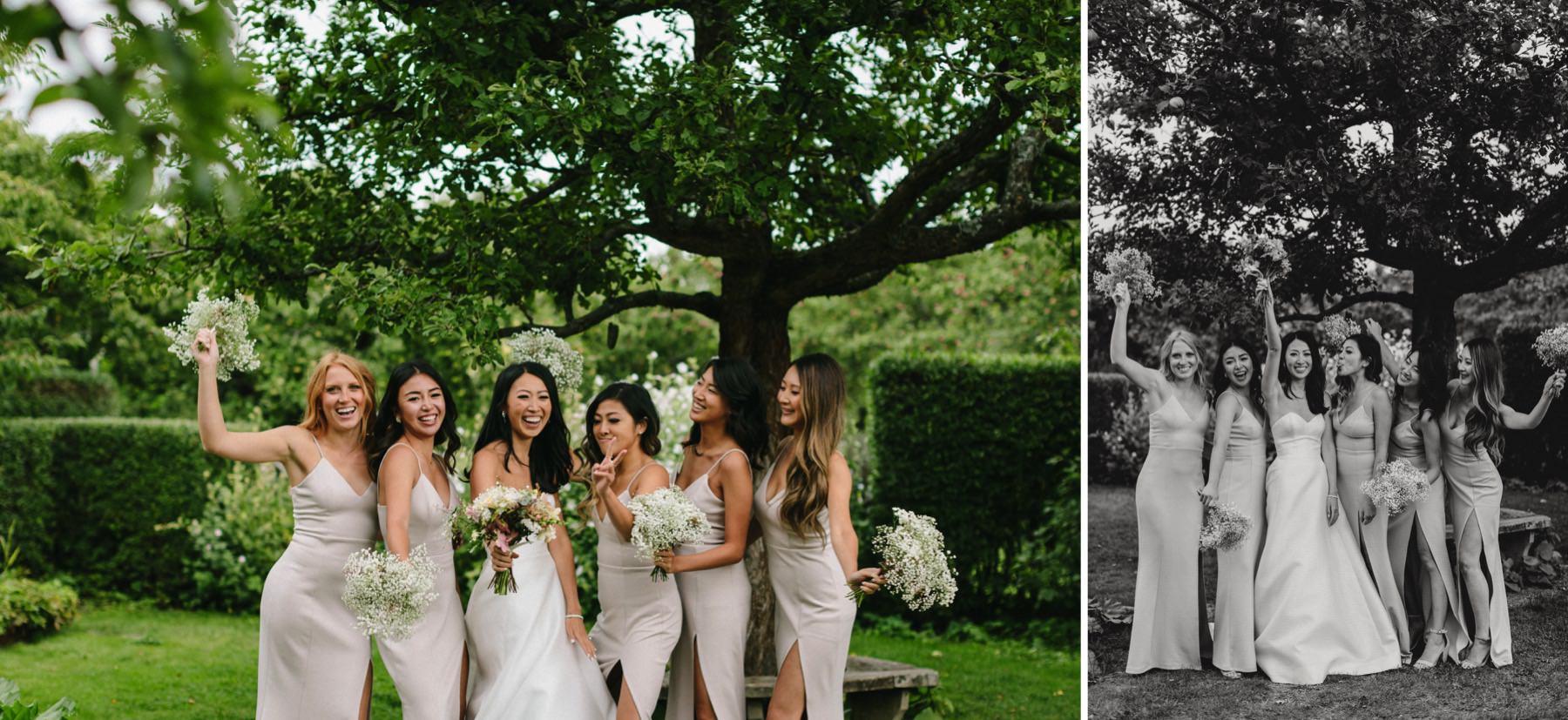 bridesmaids Rosendals Trädgård