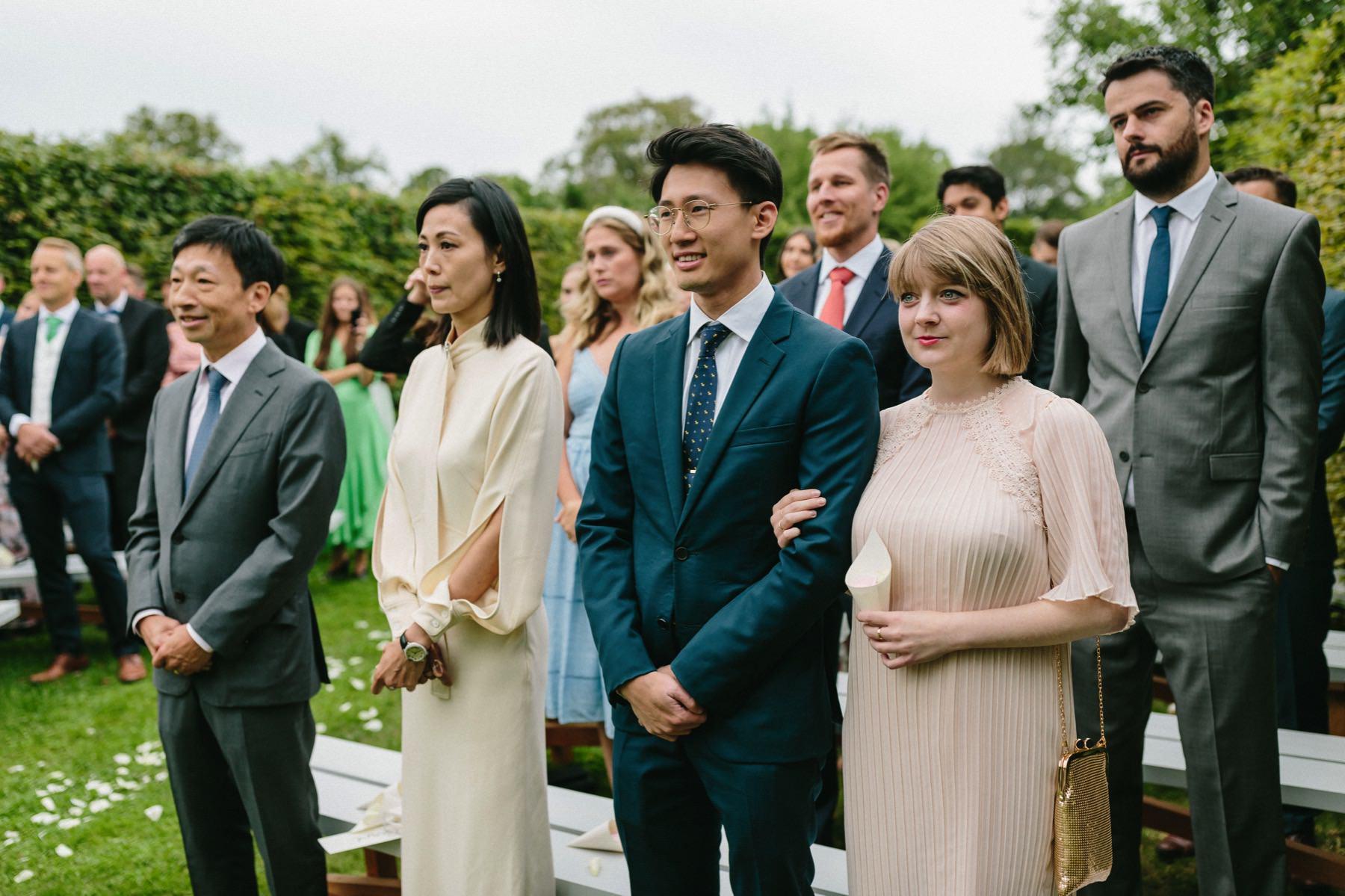 Rosendals Trädgård wedding ceremony