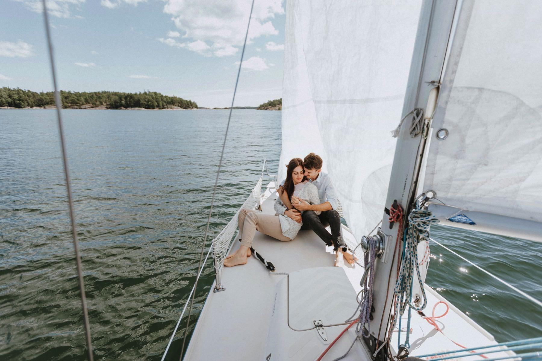 engagement photo session sailboat