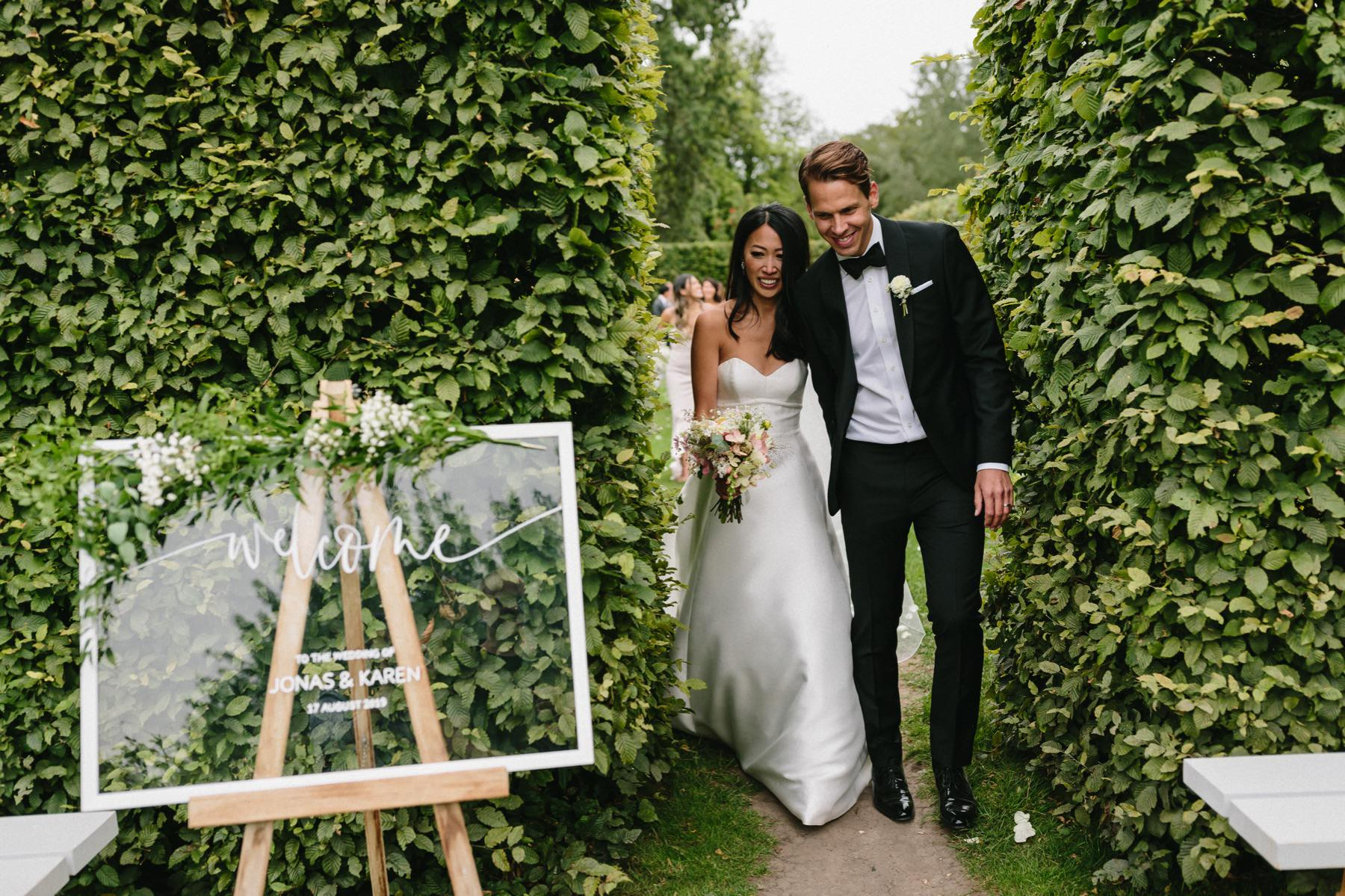 Rosendals Trädgård wedding in the secret garden