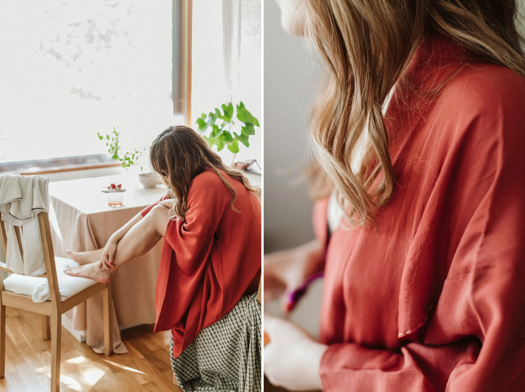 japanese red kimono in Finland