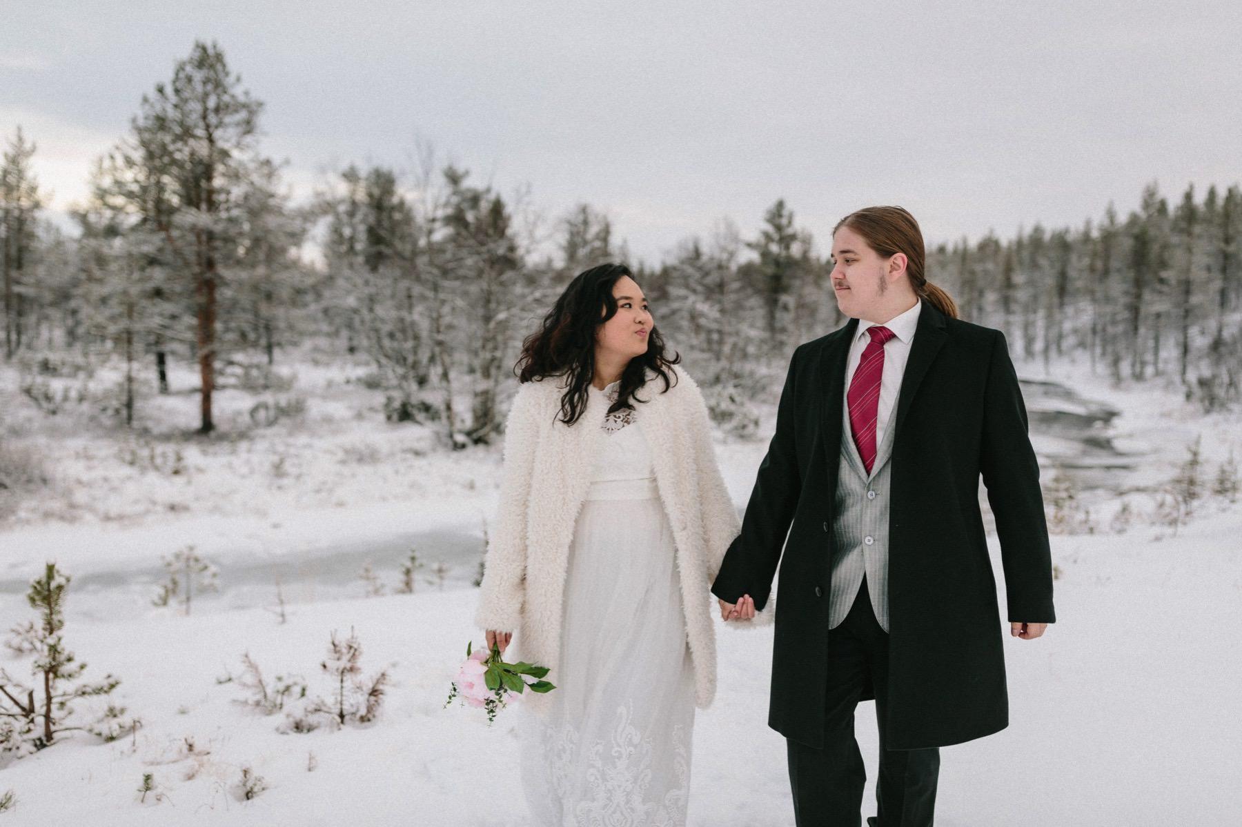 Lapland pre-wedding photographer