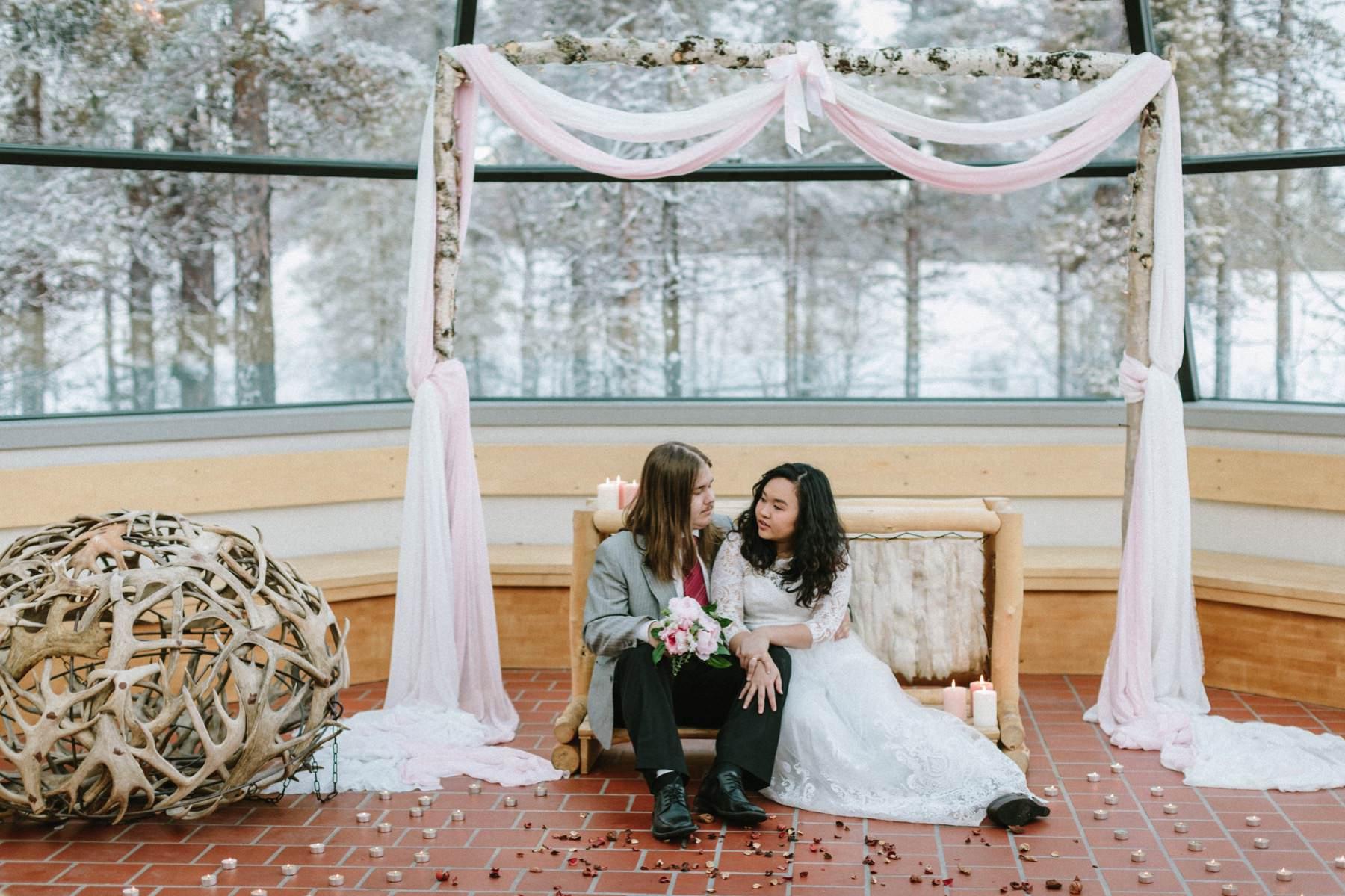 Kakslauttanen Arctic Resort wedding