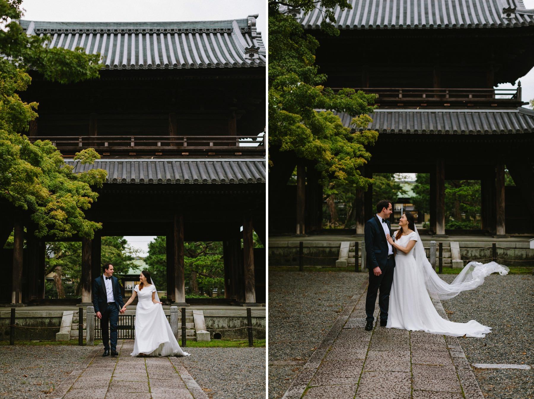 prewedding session Japanese temple Kyoto