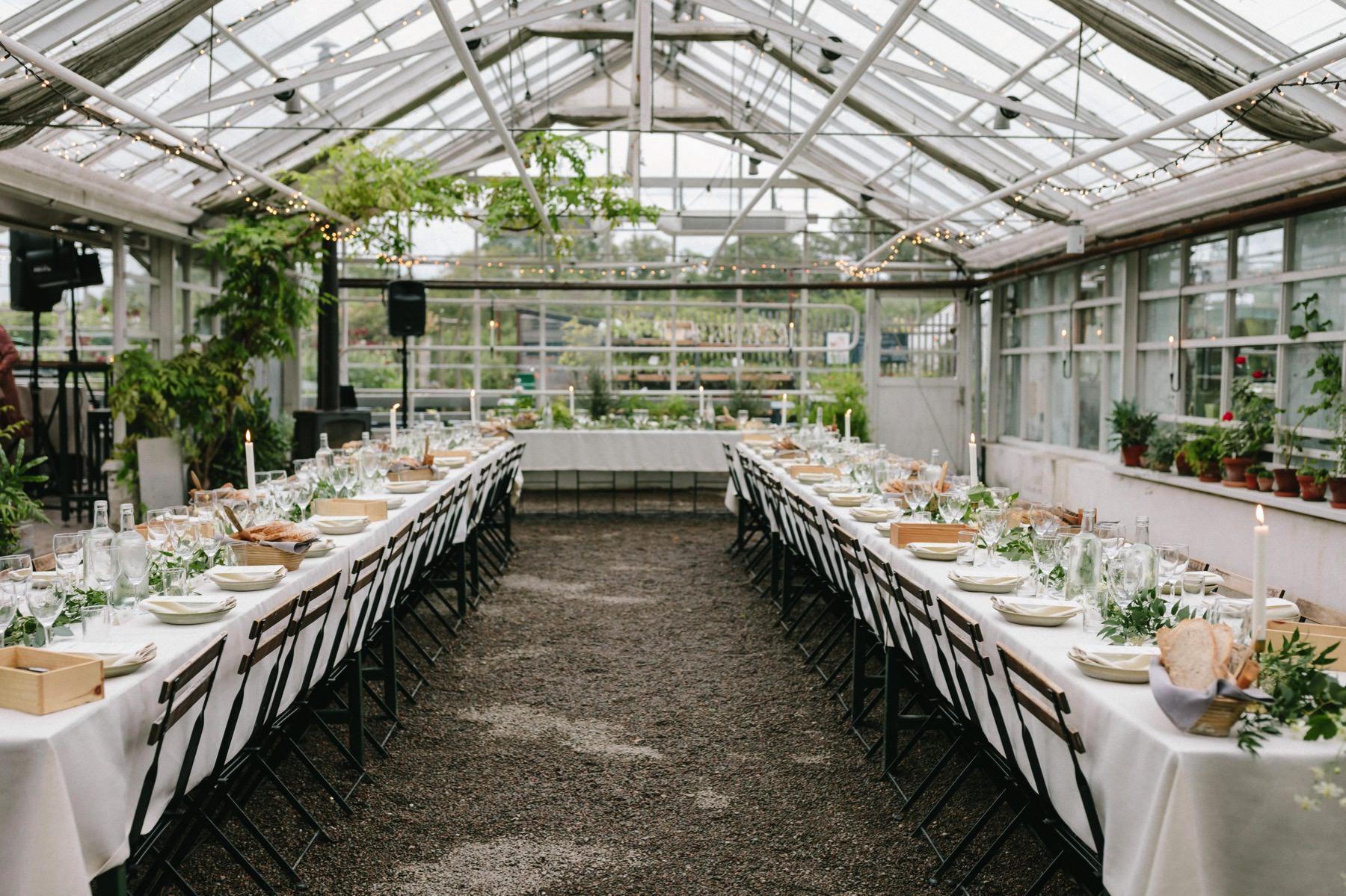 växthus bröllop Rosendals Trädgård