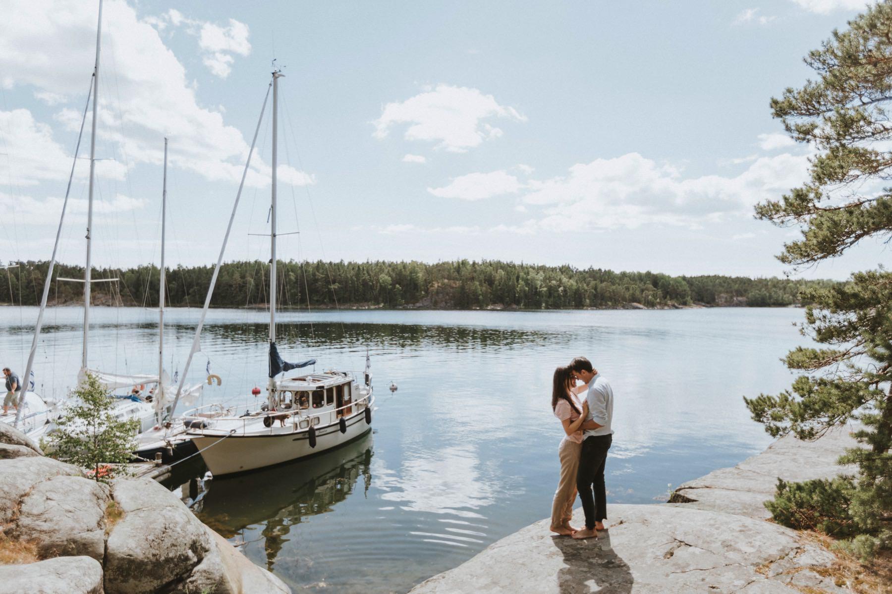 sailboat engagement photo session