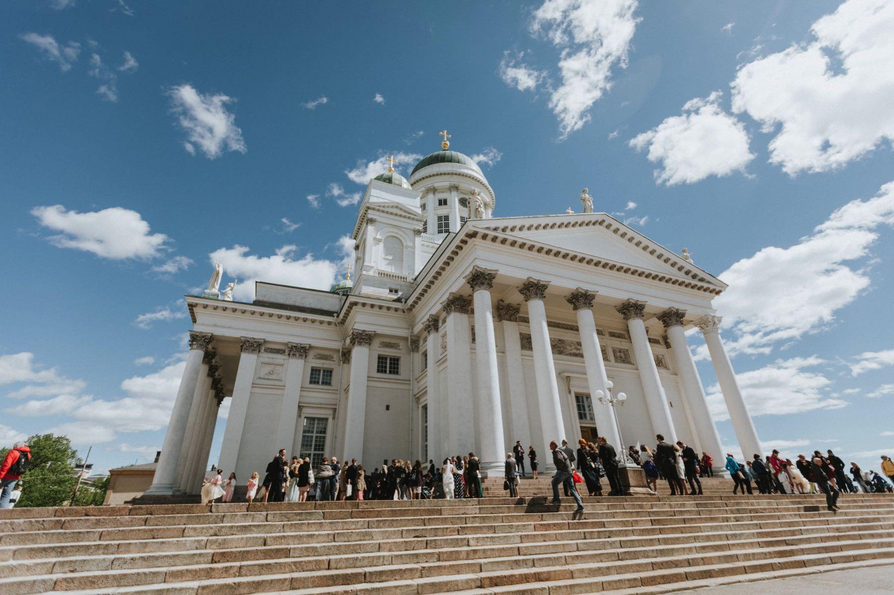 Helsinki white cathedral celebration