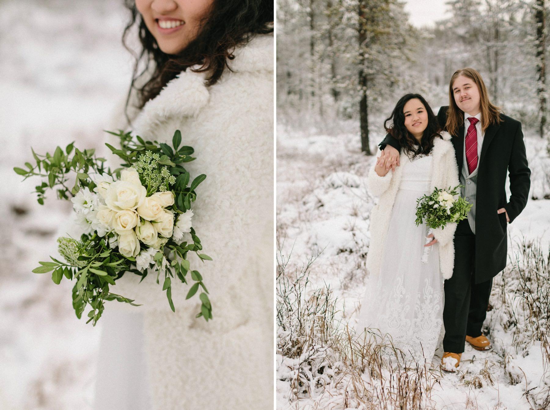 prewedding photos Lapland