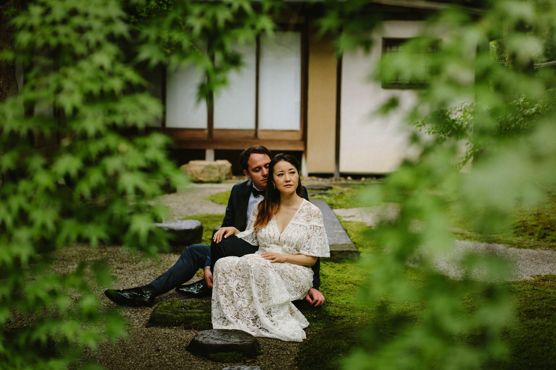 Kyoto Japanese zen garden wedding