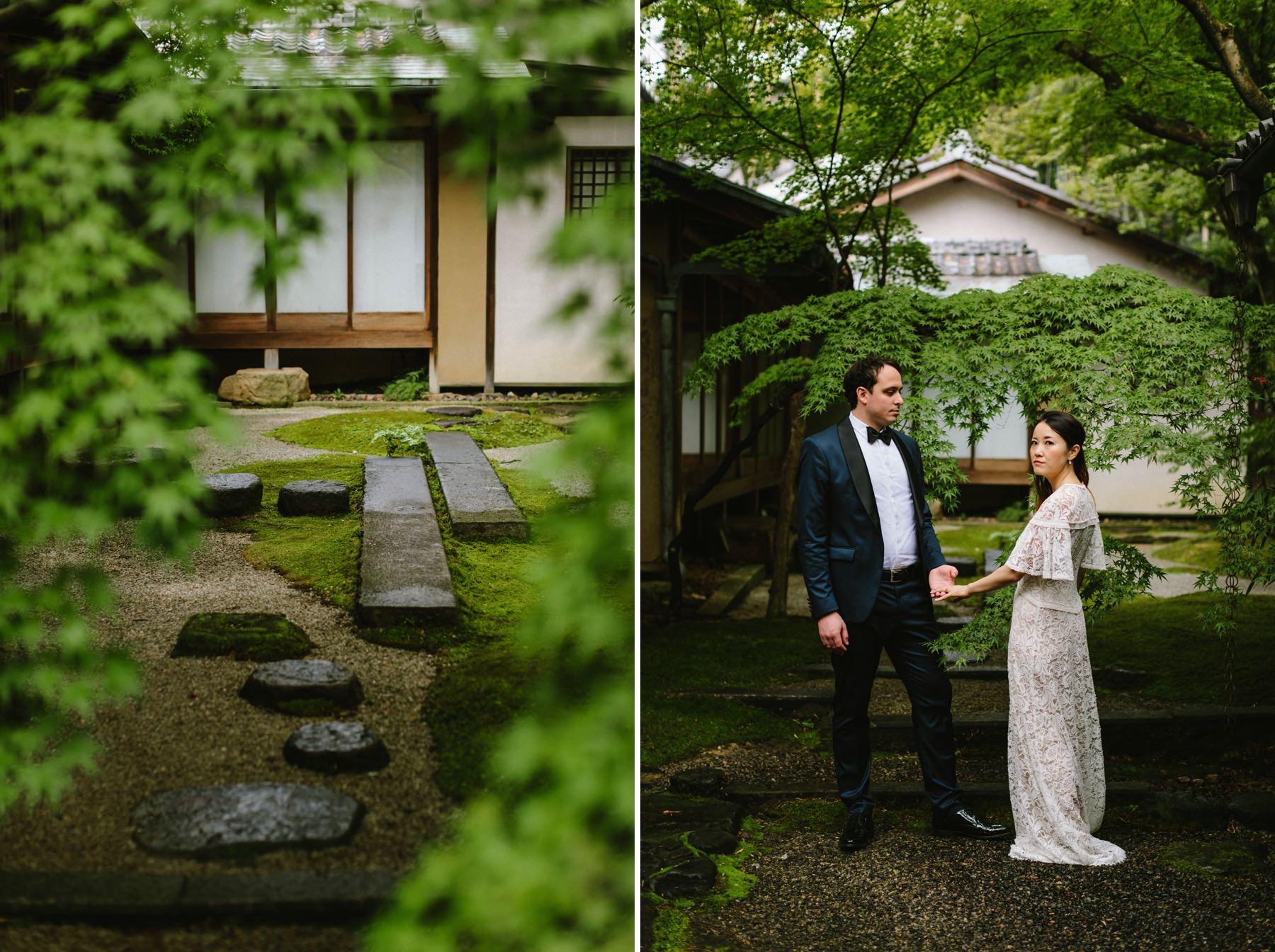 Japanese garden wedding Kyoto