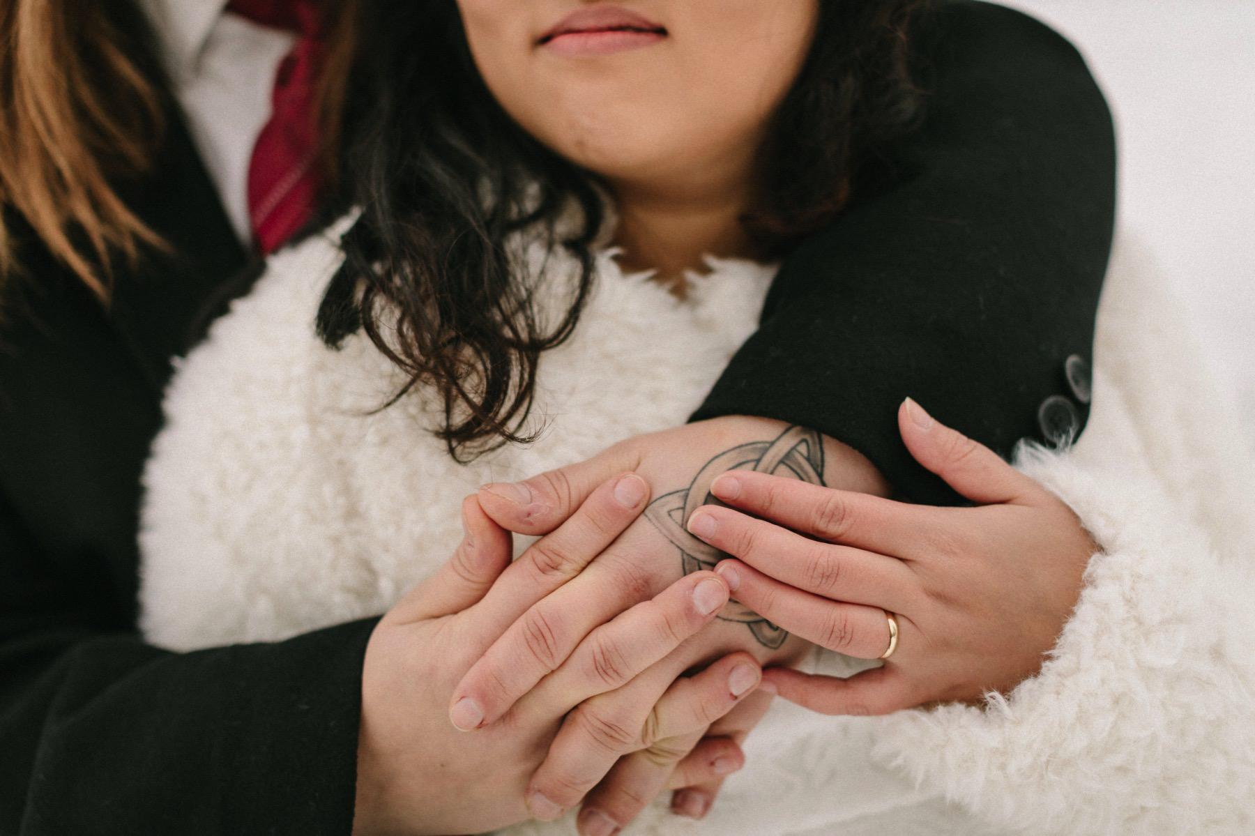 prewedding photo session Lapland
