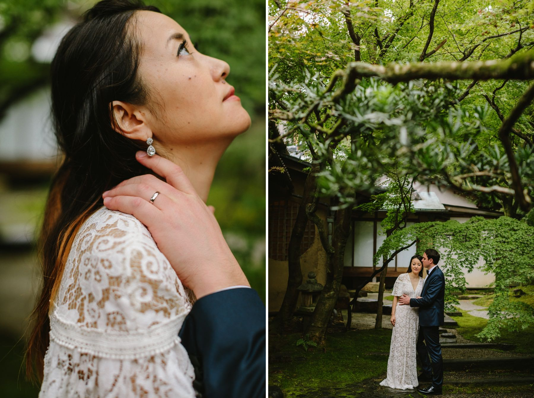 international wedding Kyoto Japanese garden