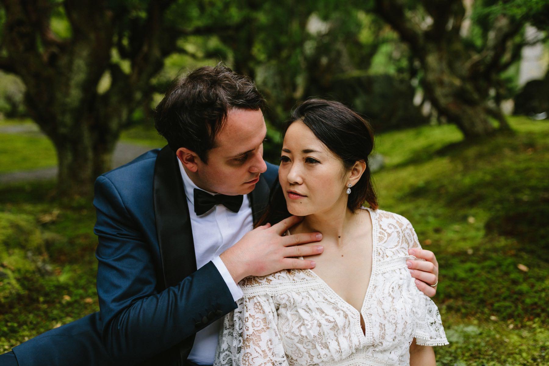 bonsai garden wedding Kyoto