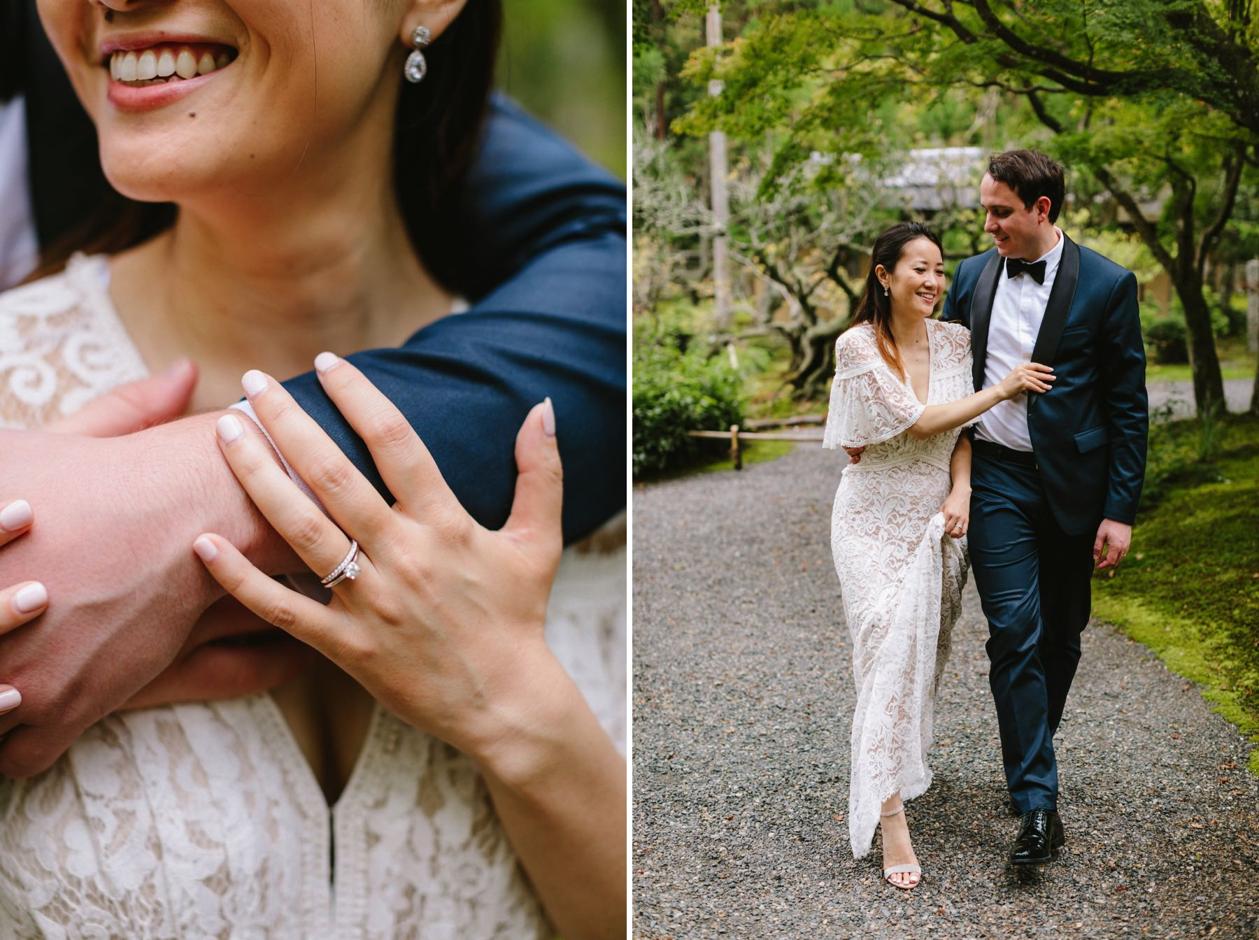 getting married at Shozan Resort Garden Kyoto