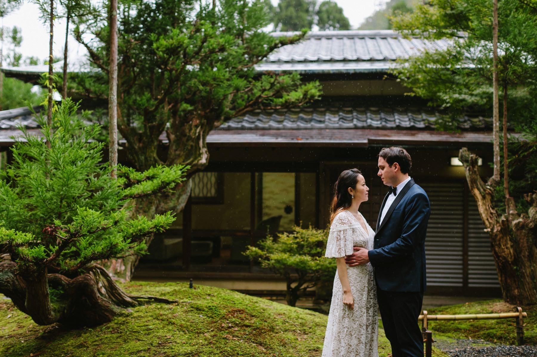 Japanese garden Shozan Resort wedding Kyoto