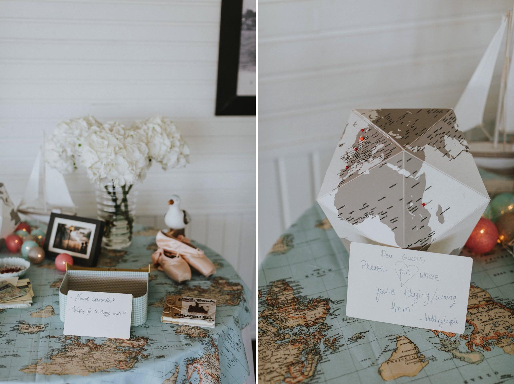 globetrotter wedding theme