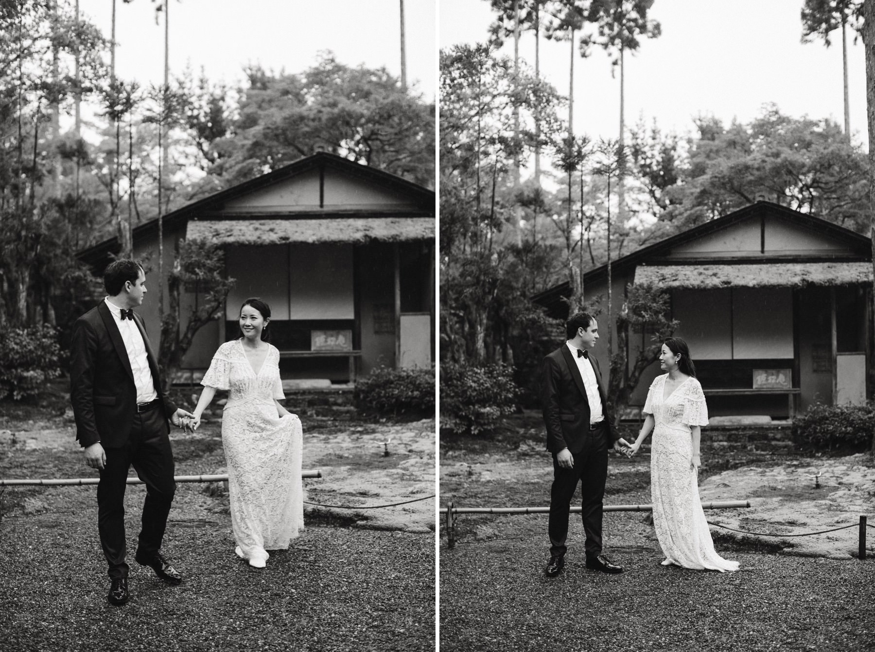 getting married in a Kyoto Japanese garden
