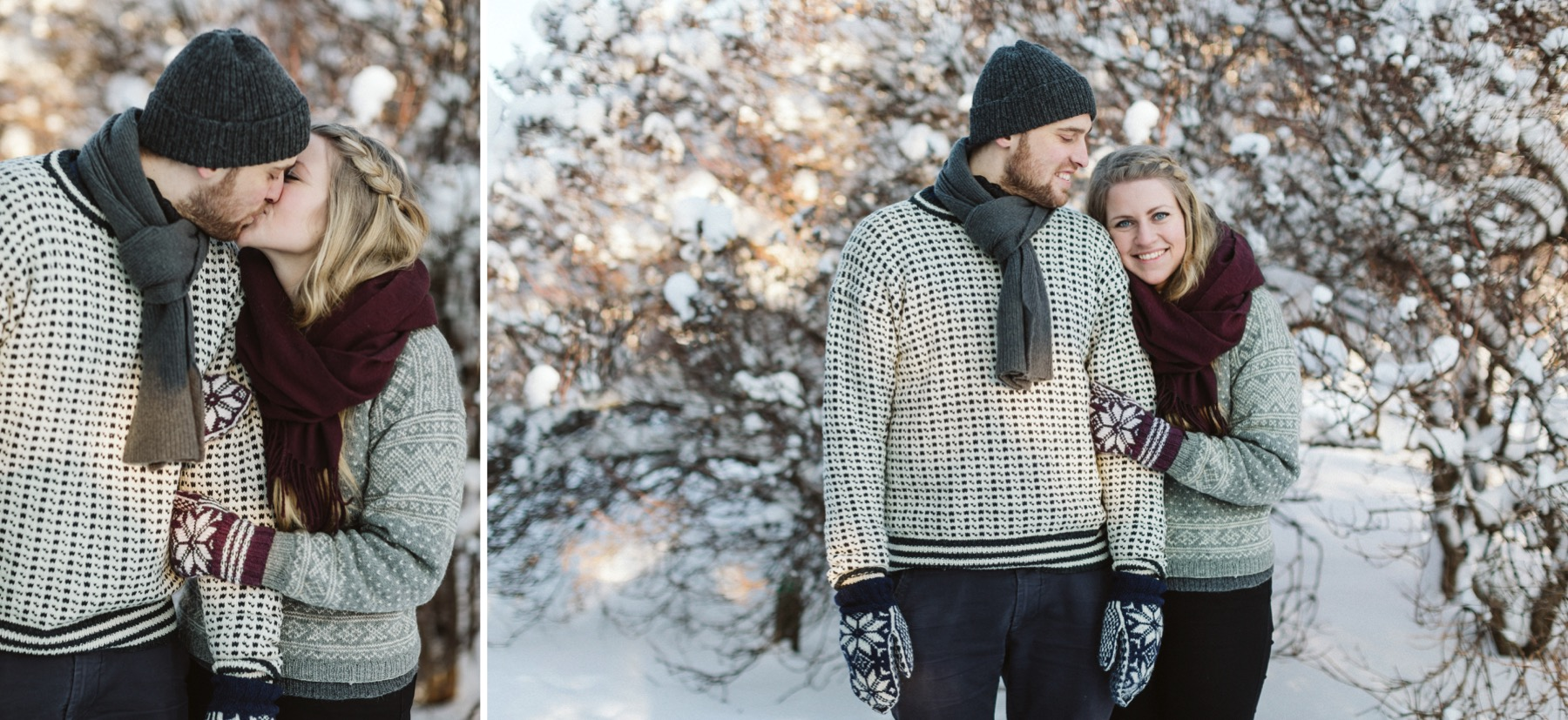 winter couple session Helsinki