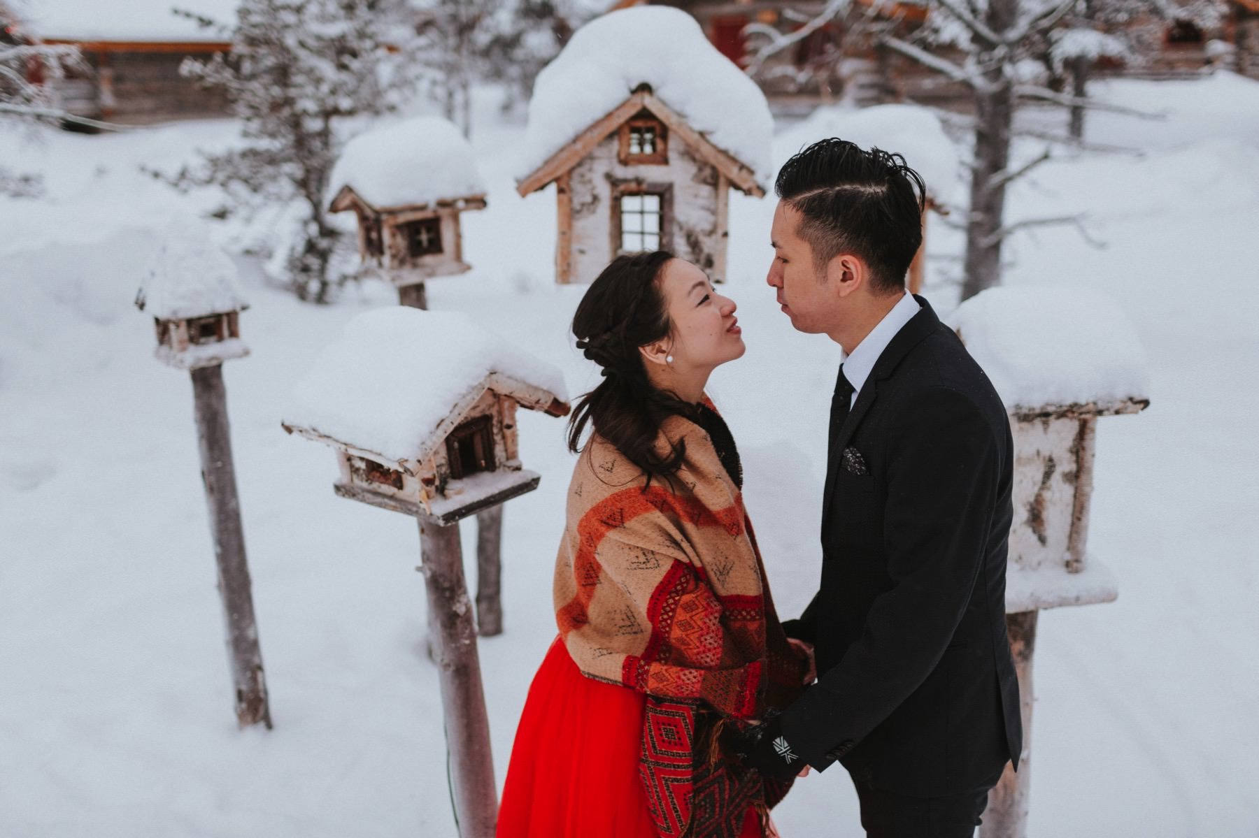 pre wedding session Lapland