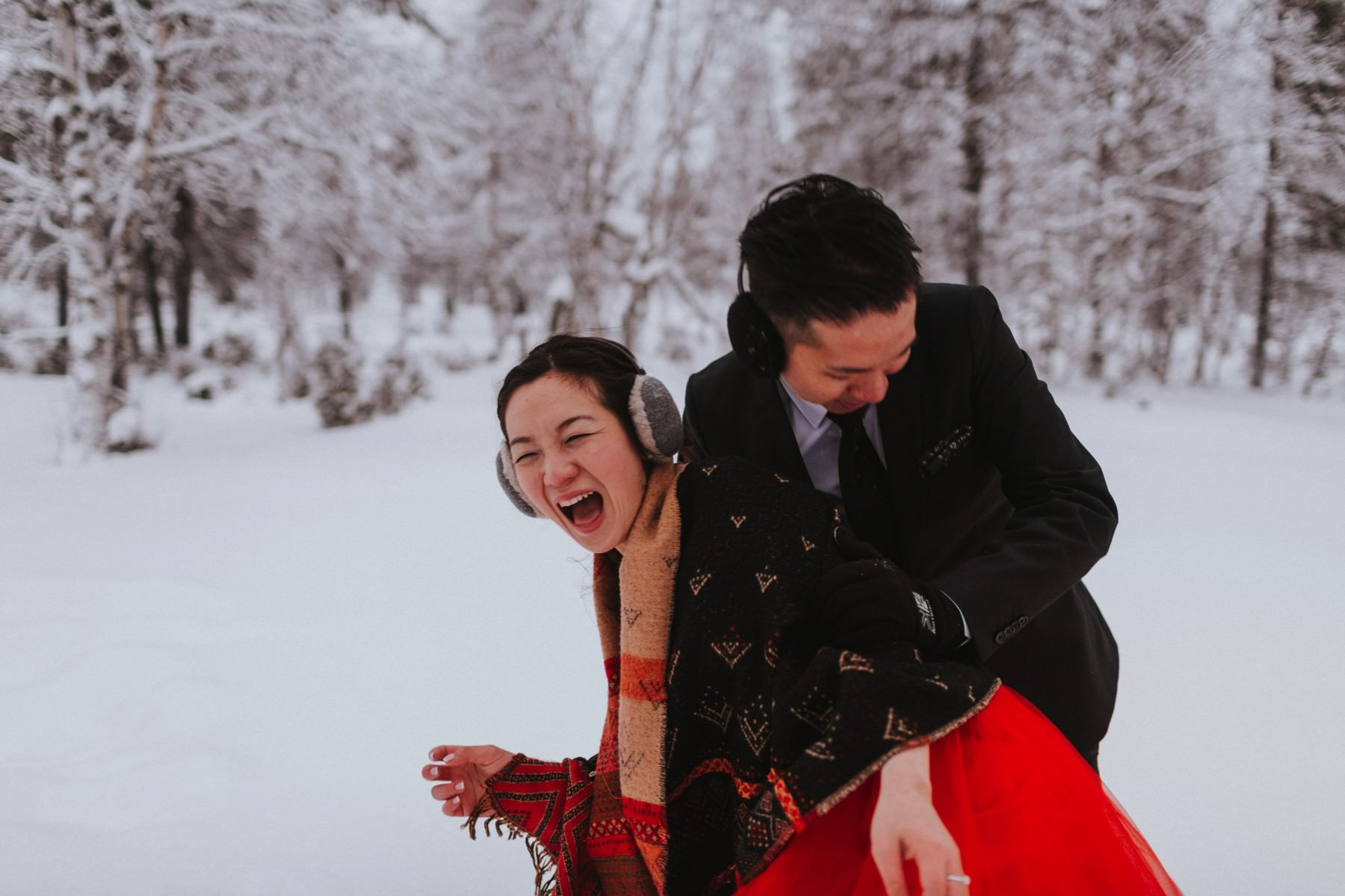winter honeymoon Lapland
